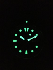 Awesome lume from a Seiko 'PADI'